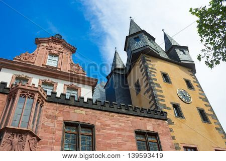 Typical architecture in Frankfurt am Main old town, Hessen, Germany