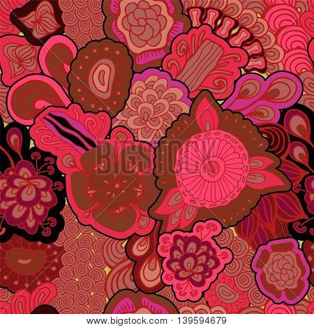 stock vector seamless abstract floral pattern for printing on paper fabric. Indian arabic russian or orient ornament