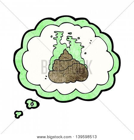 freehand drawn thought bubble textured cartoon gross poop