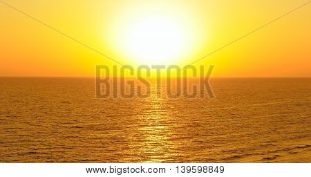 A Fantastic sun rise on the ocean