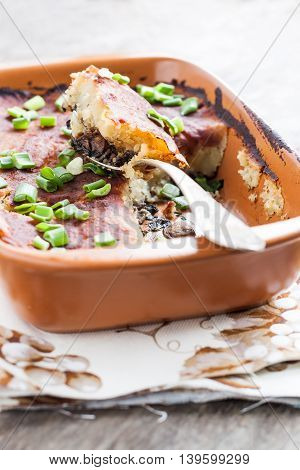 Parmentier, Cottage Pie In The Form Of Clay