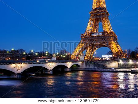 View On Eiffel Tower In Paris, France