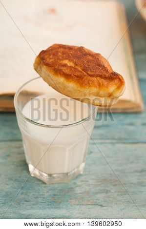 Basket With Patties, Milk And A Book