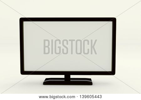 3D rendering of modern lcd wide screen television on white background
