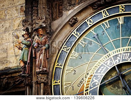 Detail Of The Prague Astronomical Clock