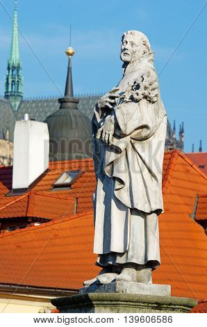 Statues On Charles Bridge, Prague, Czech Republic