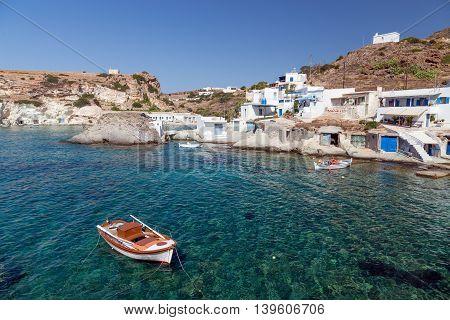 Goupa fishing village, Kimolos island, Cyclades, Greece