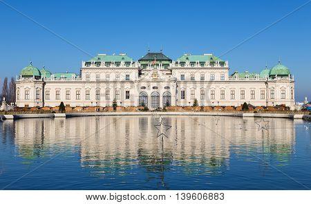 View of Upper Belvedere Palace, Vienna, Austria