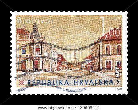 CROATIA - CIRCA 1995 : Cancelled postage stamp printed by Croatia, that shows ship Bjelovar.
