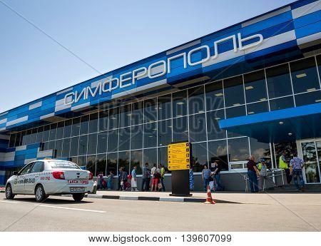 Simferopol Russia - June 01 2016 The building of the terminal