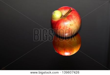 Fresh Apples With Interesting Deformations In Beautiful Light