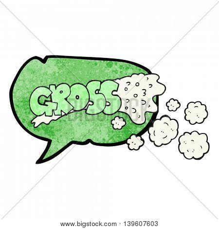 gross freehand drawn texture speech bubble cartoon