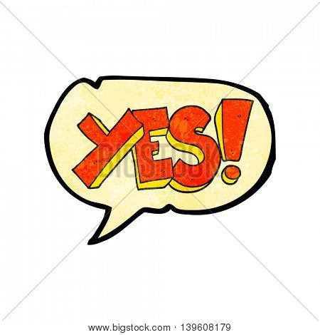 freehand speech bubble textured cartoon yes symbol