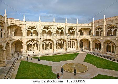 monastery Jeronimos in Belem near Lisbon famous monastery in Portugal