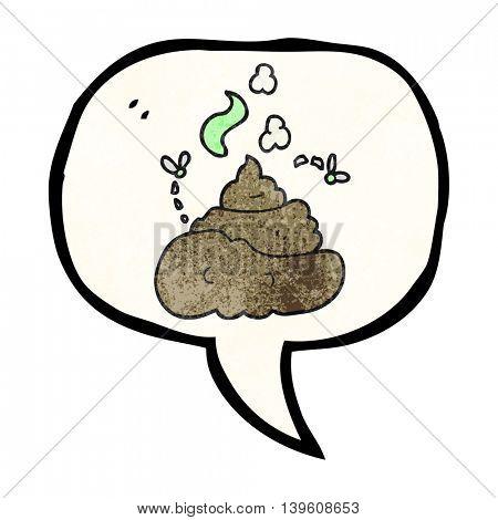 freehand speech bubble textured cartoon gross poop
