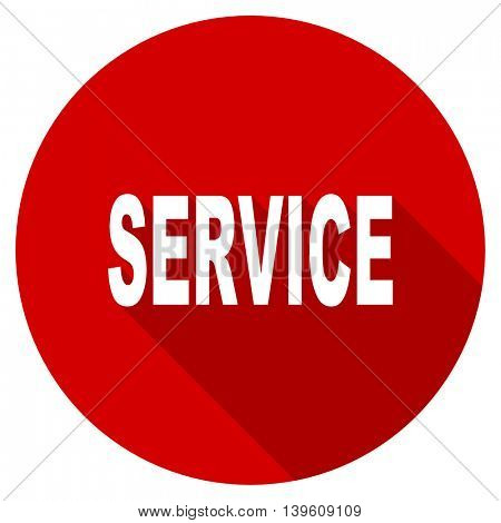 service red vector icon, circle flat design internet button, web and mobile app illustration