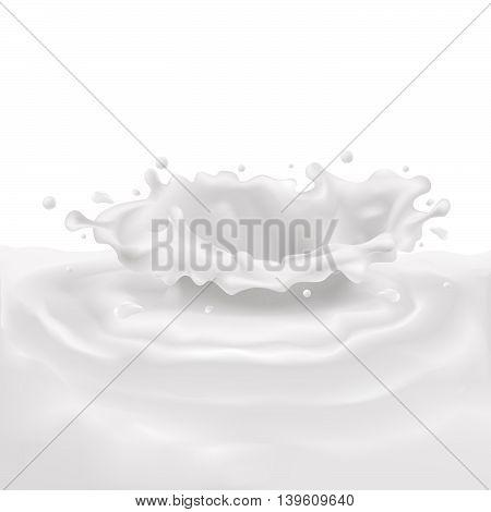 vector cream splash on a white background