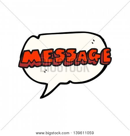 freehand drawn speech bubble cartoon message text