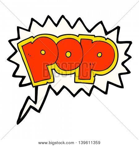freehand drawn speech bubble cartoon POP symbol