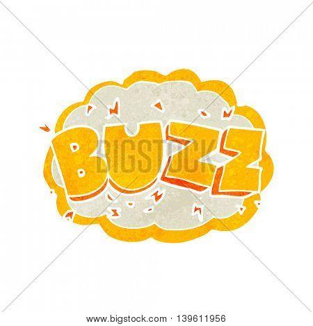 freehand retro cartoon buzz symbol