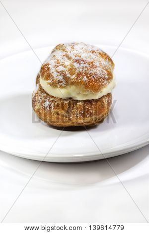 Cream Puff On A Plate