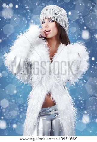 portrait of a winter woman