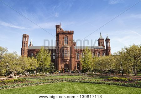 The original Smithsonian Institutional building in Washington D.C.