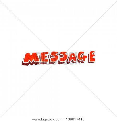 freehand retro cartoon message text
