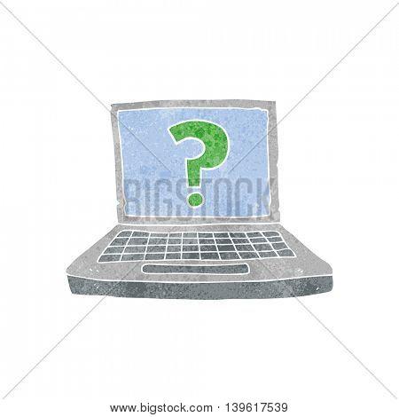 freehand retro cartoon internet search