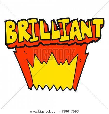 brilliant freehand drawn cartoon word