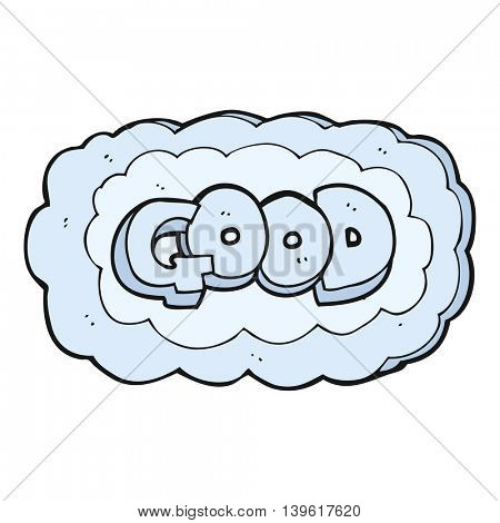 freehand drawn cartoon Good symbol