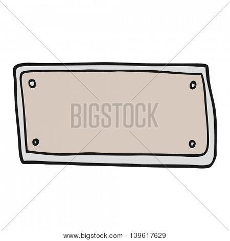 freehand drawn cartoon blank sign