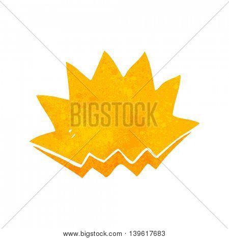 freehand retro cartoon explosion decorative symbol