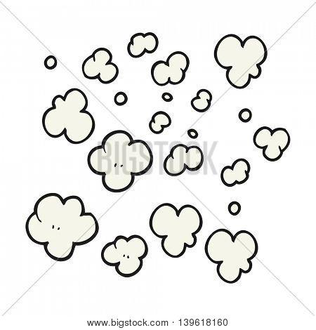 freehand drawn cartoon puff of smoke symbol