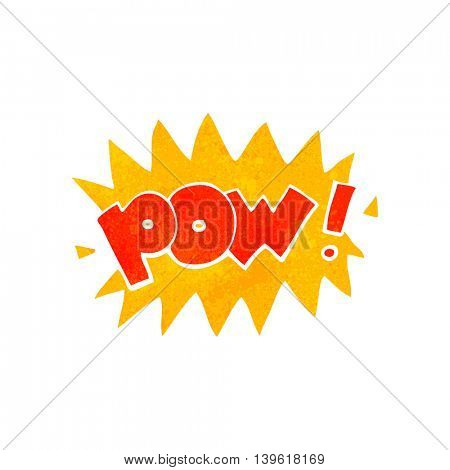 freehand retro cartoon pow symbol