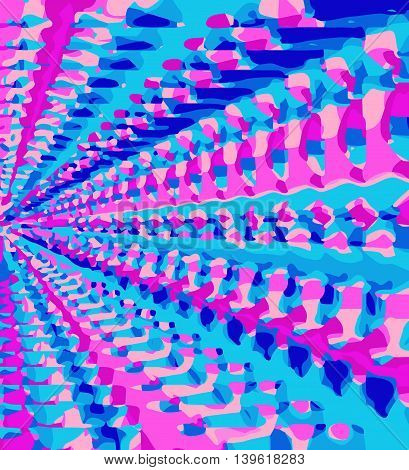 blue and pink drawing and painting abstract background