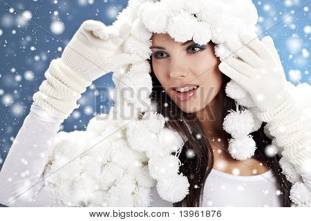 portrait of a winter fashion  woman