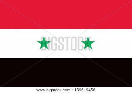 Vector Syrian Arab Republic flag