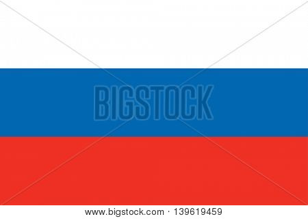 Vector Russian Federation flag