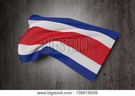 Republic Of Costa Rica Flag Waving