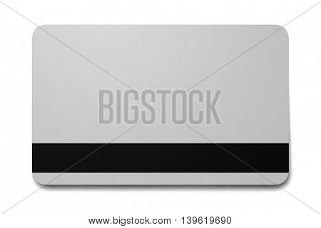 2d illustration of a blank plastic card