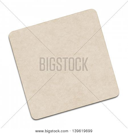 2d illustration of a blank coaster