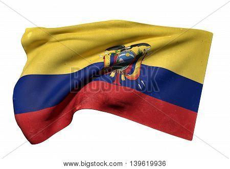 Republic Of Ecuador Flag Waving