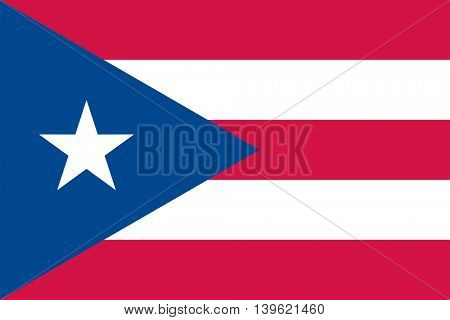 Vector Puerto Rico flag