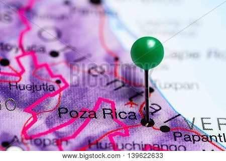 Poza Rica pinned on a map of Mexico