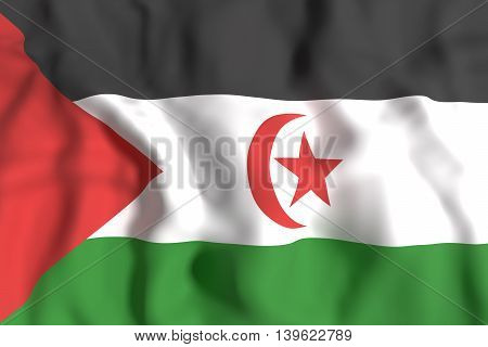 Sahrawi Arab Democratic Republic Flag Waving