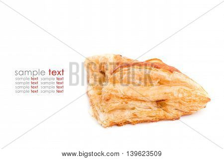 Close Up Pineapple Pie Isolated On White