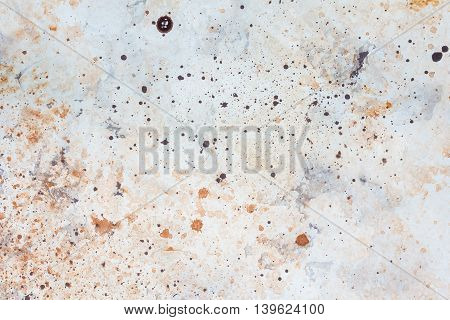 Concrete surface with the effect of rust, background