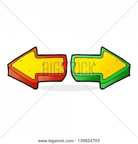 cartoon direction arrows
