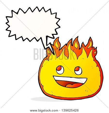 cartoon fire border with speech bubble